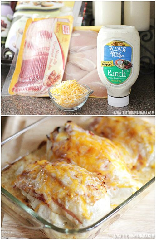 Low-Carb Bacon Ranch Chicken Bake