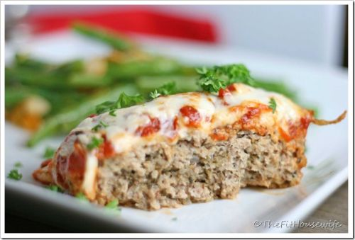 Meatloaf- Chicken Parmesan Meatloaf (21 Day Fix)