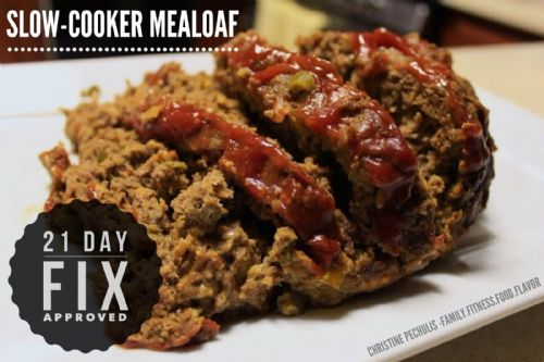 Slow Cooker Meatloaf (21 Day Fix)