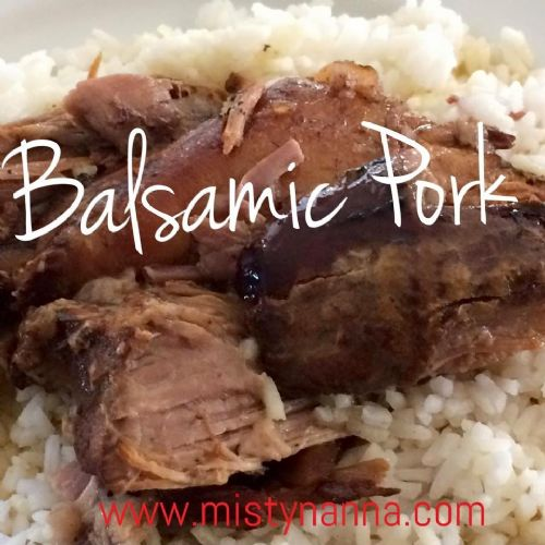 Slow Cooker Balsamic Pork Roast