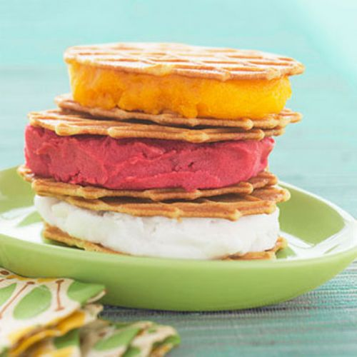Tropical Sorbet Sandwiches