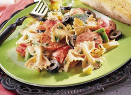 Italian Pasta Salad with Tomato Mayonnaise