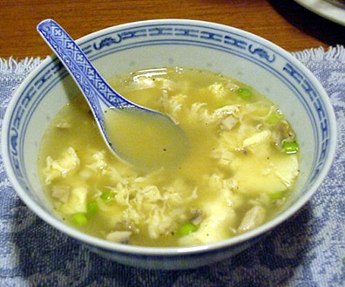 Egg Drop Soup with Chicken and Noodles