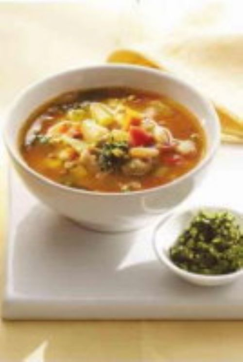 Provençale Vegetable Soup with Garlic and Basil
