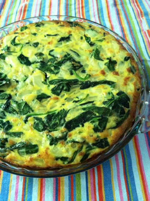 wjjjww crustless spinach quiche
