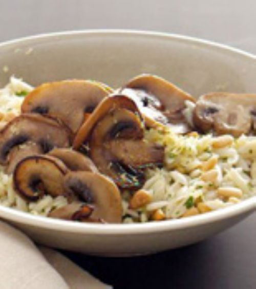 Lemon Orzo With Mushrooms