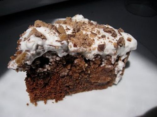 Heath Bar Cake