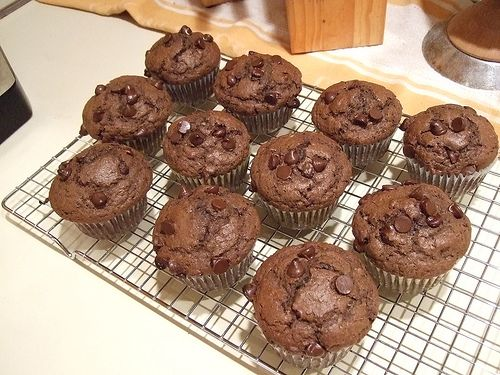 Lo-Cal Chocolate-Chocolate Chip Cupcakes