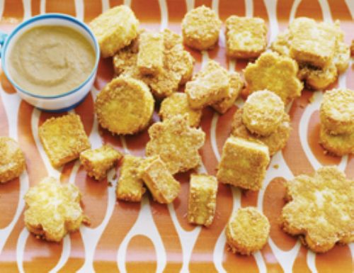 Tofu Shapes (Nuggets) With Hummus
