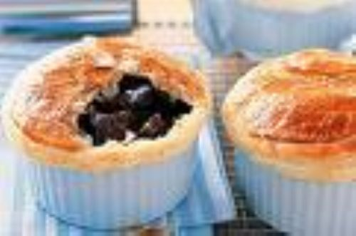 Individual beef and Stout Pies