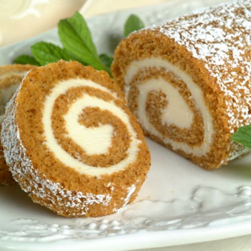 Libby's Pumpkin Roll with Cream Cheese filling