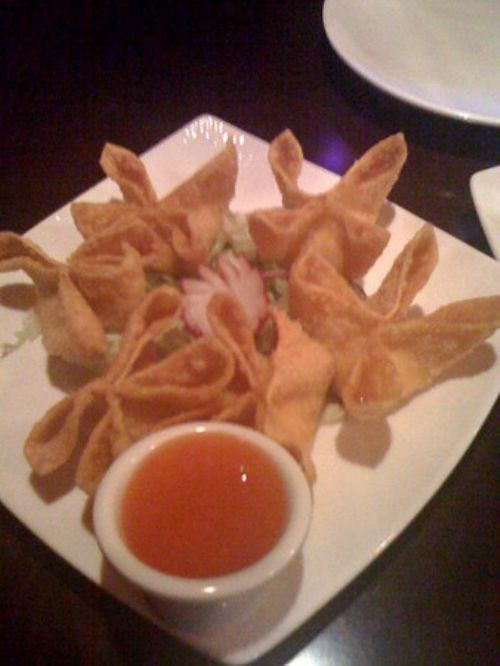 Crab Rangoon with Plum Sauce