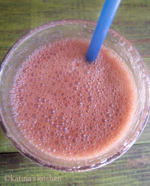 Strawberry and Choclate Smoothie.