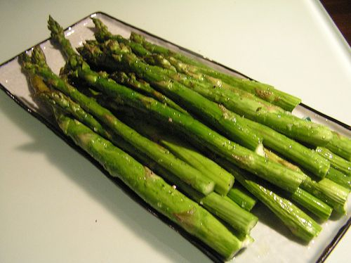 Asparagus with Spicy Lemon Sauce