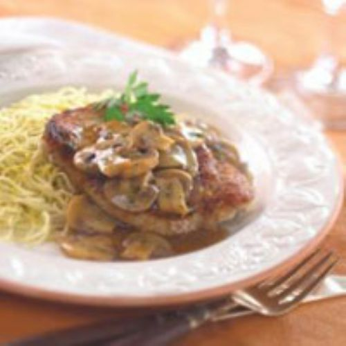 Pork Chops Marsala (non-alcoholic version)