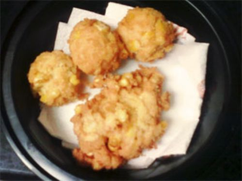 Coconut Corn Fritters