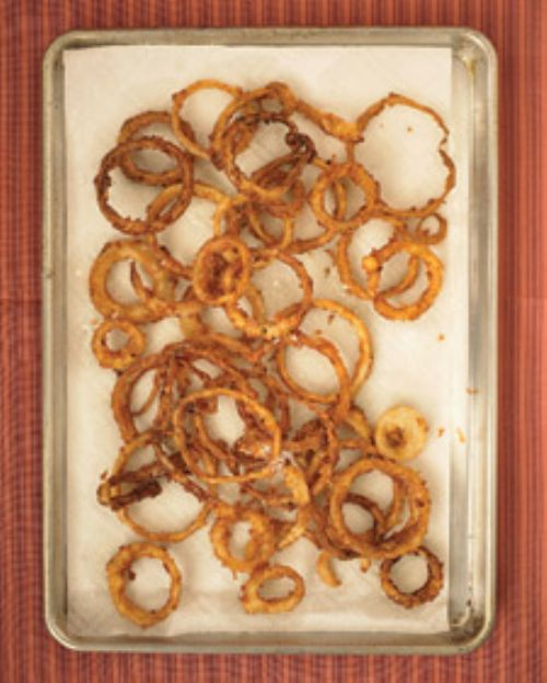 Buttermilk Onion Rings with Arugula Salad