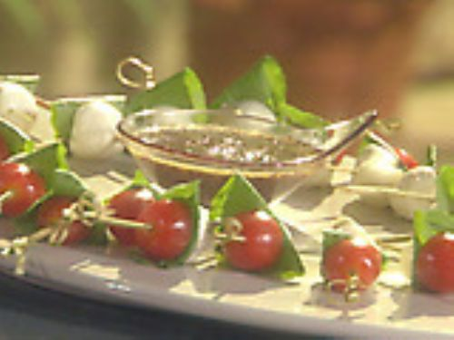 Ciliegine and Tomato Bites with Kalamata Olives