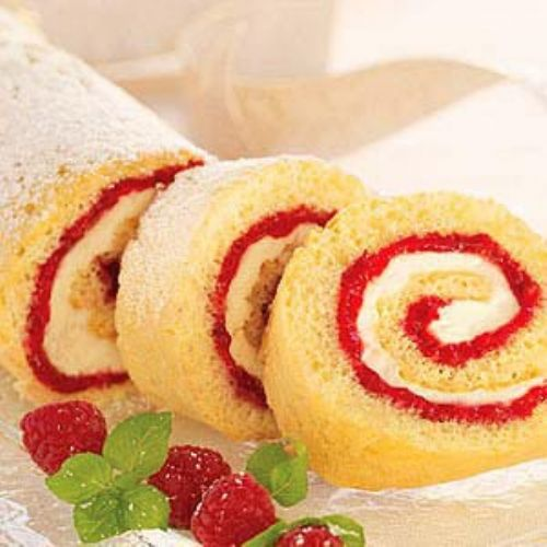 Berries and Cream Cake Roll