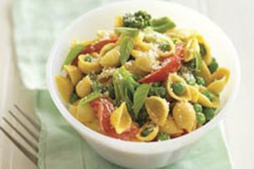 Double-Cheese Pasta Primavera