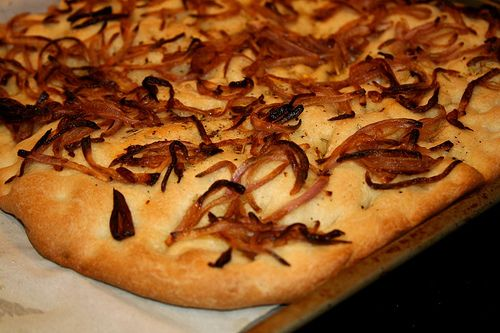 Potato, red onion and rosemary focaccia