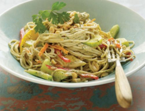 Soba Noodle Salad with Ginger Peanut Dressing Recipe