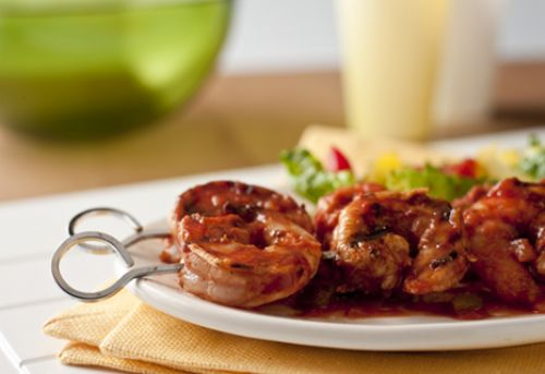 Grilled Garlic Chicken or Shrimp Skewers