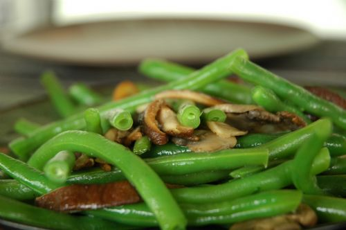 Green Beans with Mushrooms
