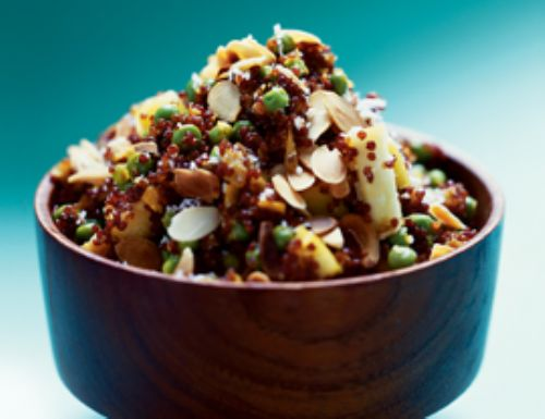 Gingery Quinoa Salad with Apples, Peas, and Coconu