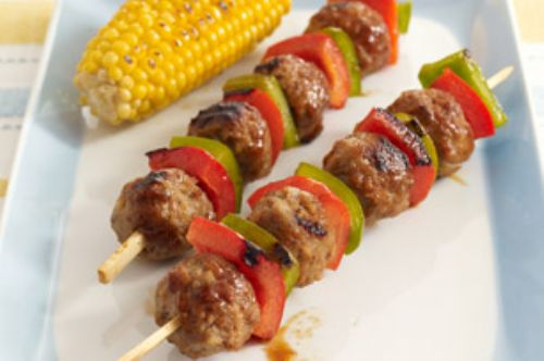 Sweet-and-Sour Meatball Skewers