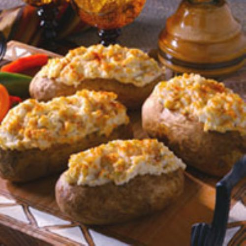Creamy Chilie-Stuffed Potatoes