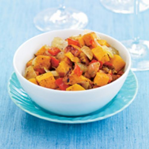 Yams with Onions & Peppers