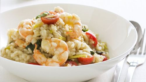 Prawn, Tomato and Basil Risotto