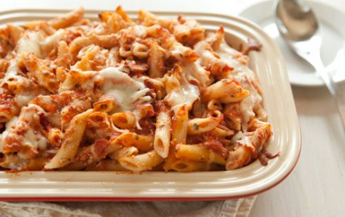 Baked Penne with Ricotta & Sausage