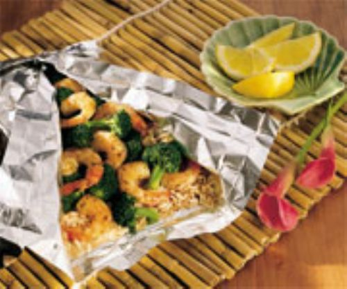 Shrimp and Broccoli Pouches