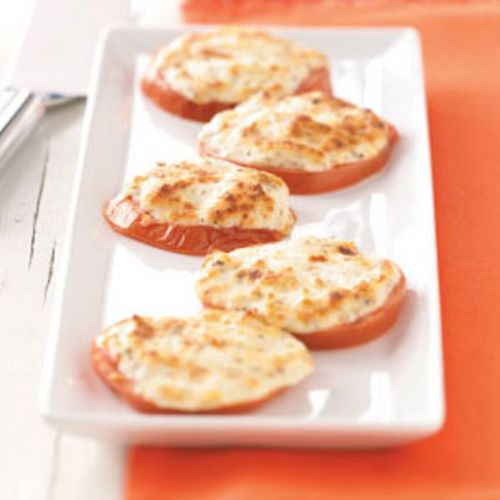 Four-Cheese Broiled Tomato Slices
