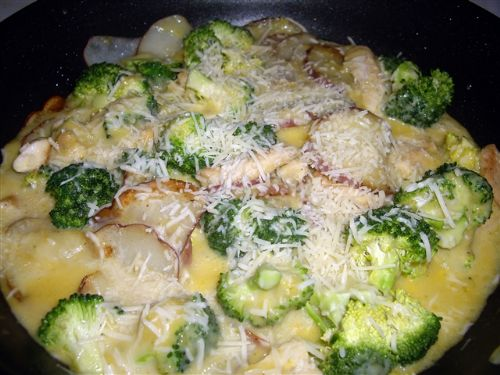 Broccoli Chicken Potato Parmesan