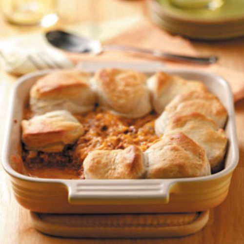 Cheeseburger Biscuit Bake