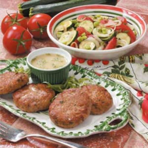 Turkey Patties with Tarragon-Mustard Sauce Recipe