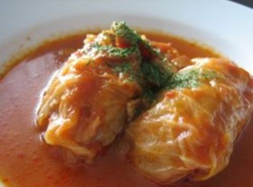 rolled cabbage w/ meat