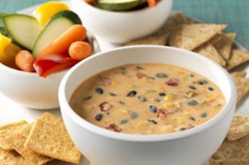 Spicy Mexican Cheese and Bean Dip