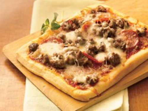 Double-Meat Personal Pizzas