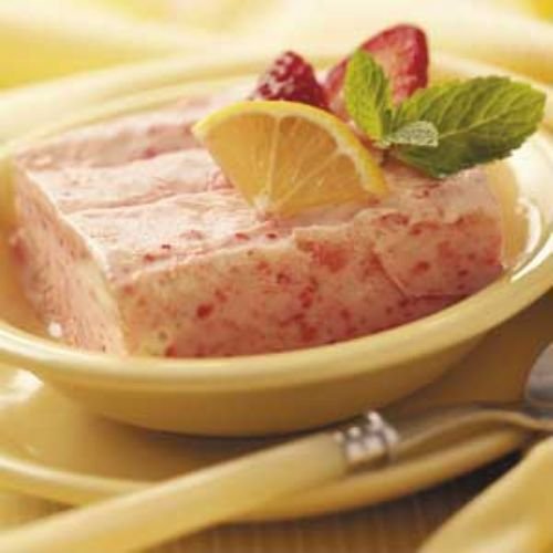Frosty Lemon-Strawberry Dessert