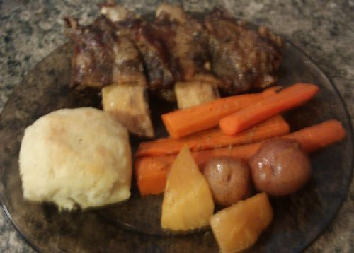 Beef Short Ribs and Vegetables