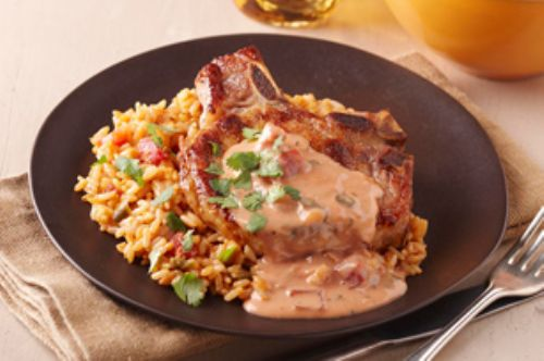 Pork Chops with Mexican Rice