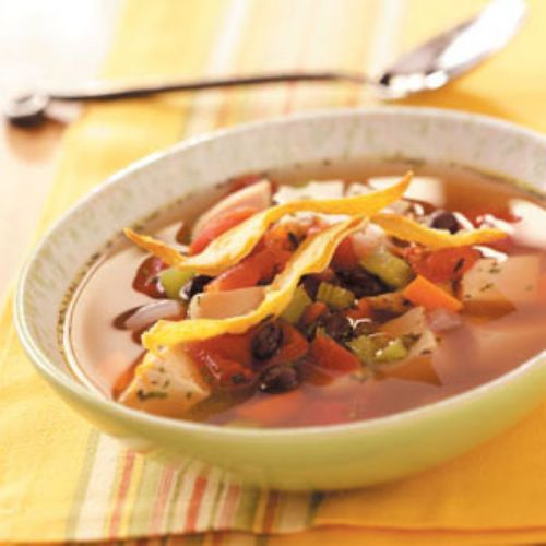 Tortilla-Vegetable Chicken Soup