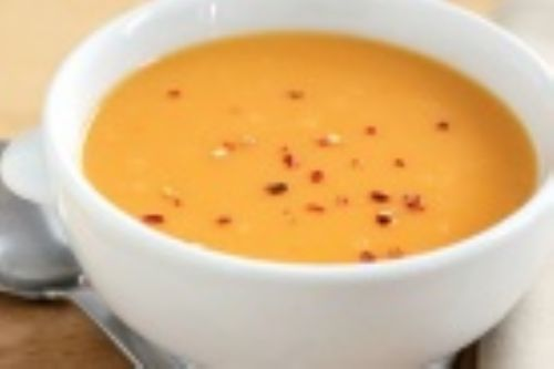 Roasted Garlic and Sweet Potato Soup