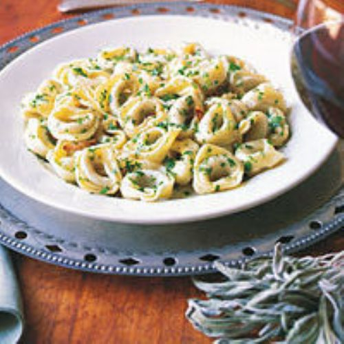 Spinach And Cheese Ravioli With Sage And Garlic Butter Sauce Recipe ...