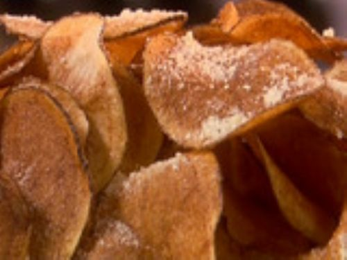 Parmesan and Garlic Potato Chips