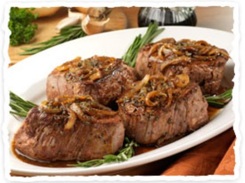 Olive Garden's Beef Filets in Balsamic Sauce